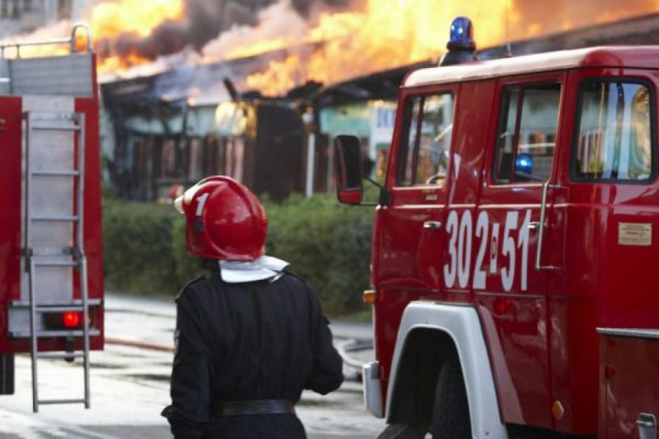 Pożar hotelu w Nadarzynie