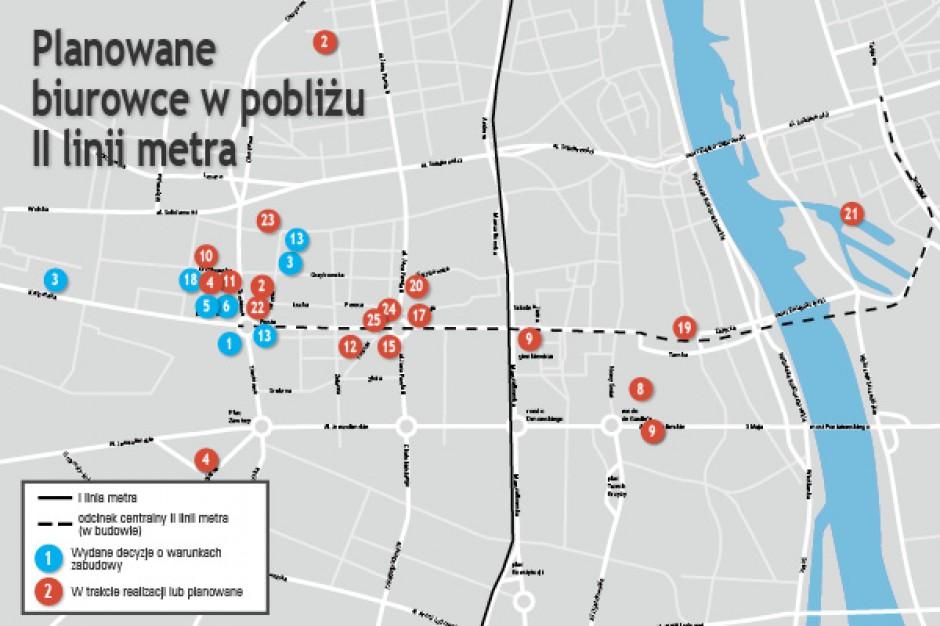 Metro-rewolucja - zobacz mapę planowanych inwestycji biurowych w pobliżu II linii metra