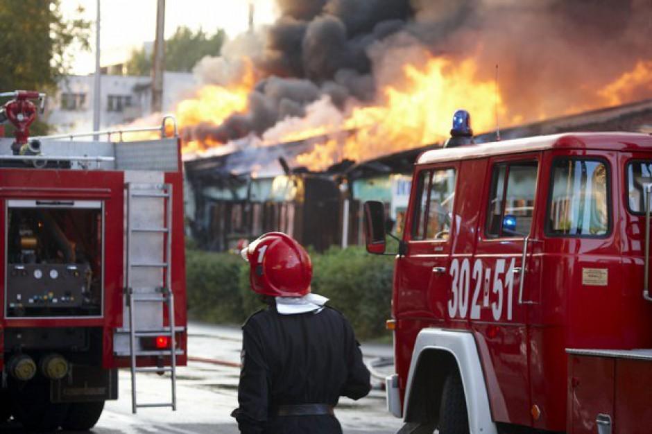 Spłonął supermarket Bricomarche w Wągrowcu