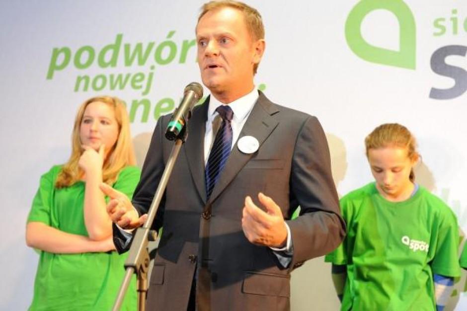 Donald Tusk w Millenium Hall - zobacz zdjęcia