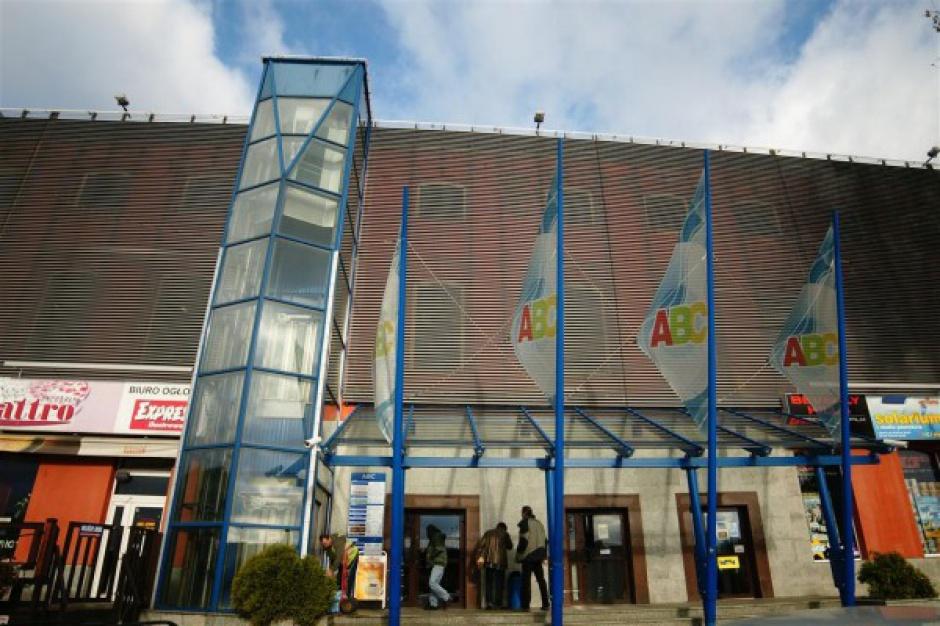 Pożar w centrum handlowym ABC w Łodzi