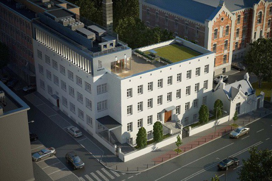 Biurowiec przy ul. Rakowieckiej w Warszawie wystawiony na sprzedaż