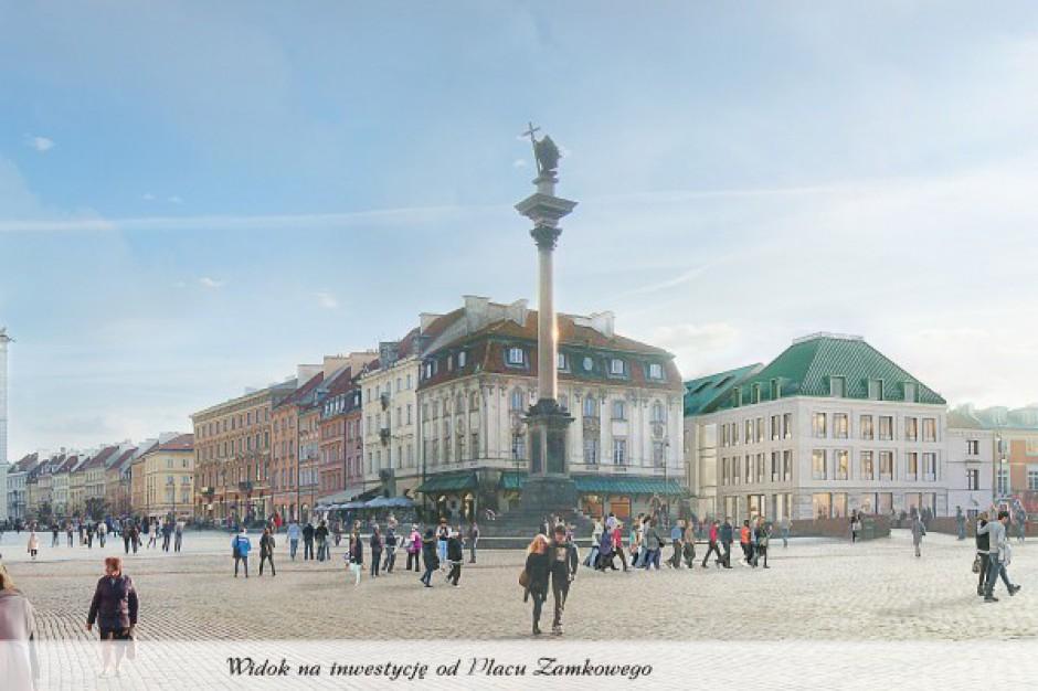 Kontrowersyjne pozwolenie na budowę biurowca przy warszawskim Starym Mieście