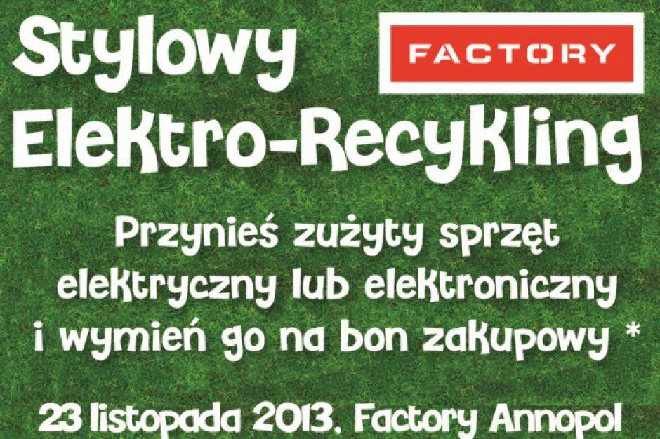 Stylowu Elektro-Rycykling w Factory Warszawa Annopol