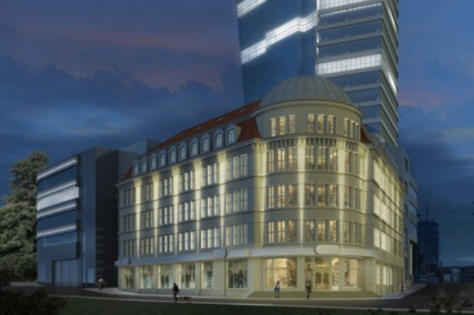 J.W. Construction zmienia koncepcję zagospodarowania powierzchni w Hanza Tower