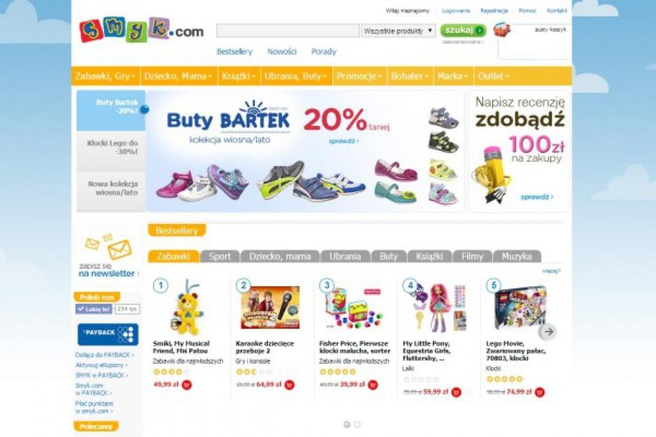 Rekordowa dynamika wzrostu sklepu internetowego sieci Smyk
