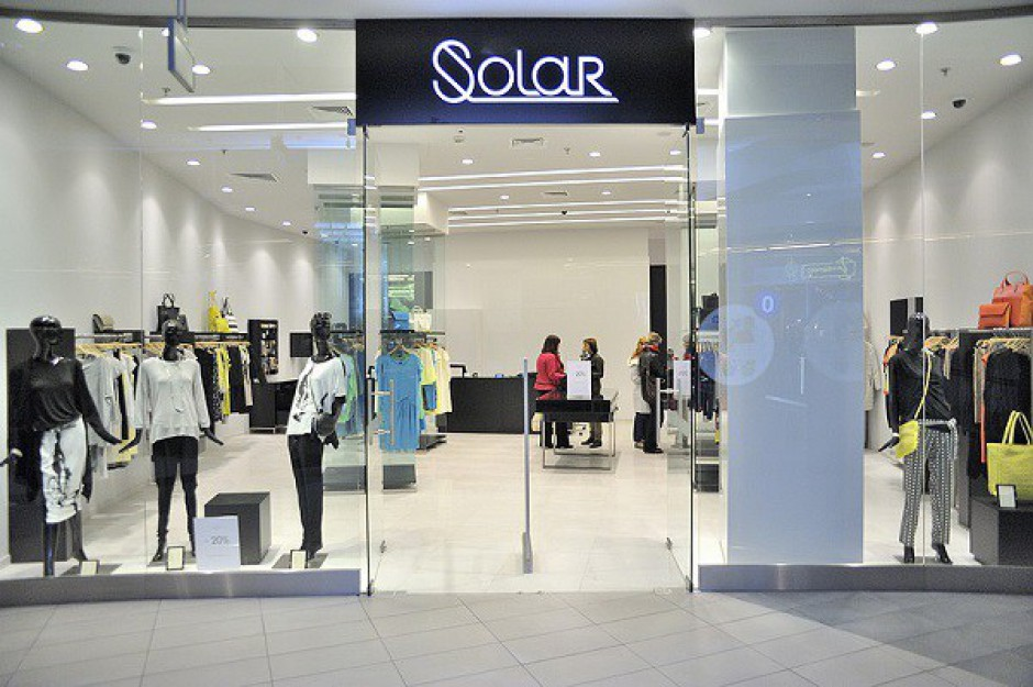 ubrania z logo solar w kolejnych centrach centra handlowe