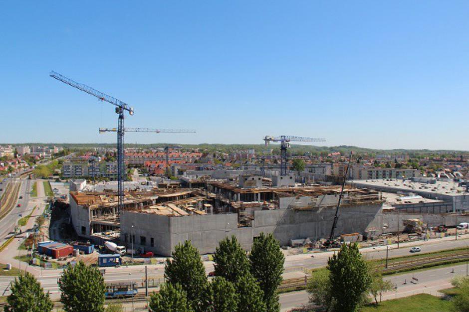 Trwają prace przy budowie CH Ogrody w Elblągu