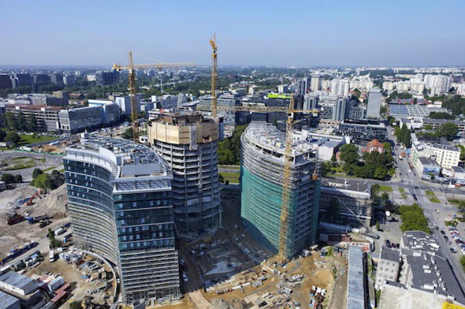 Pożar na dachu Warsaw Spire