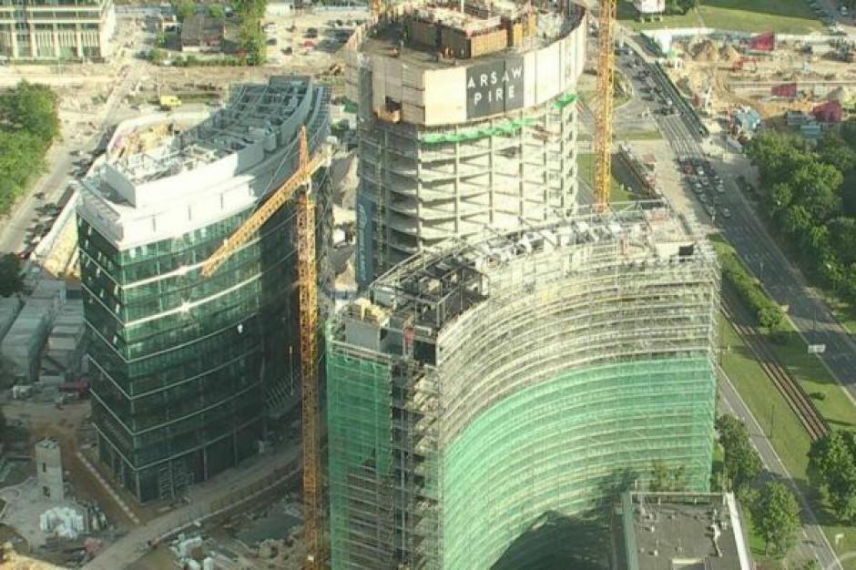 Trwa wyjaśnianie okoliczności incydentu przy budowie Warsaw Spire