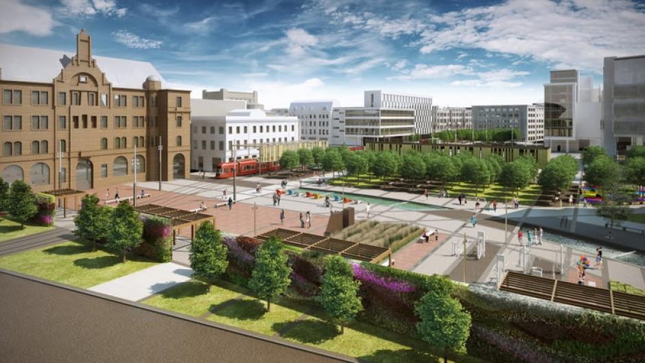 Wizualizacja Nowego Rynku Katowice (widok z Nieruchomości)