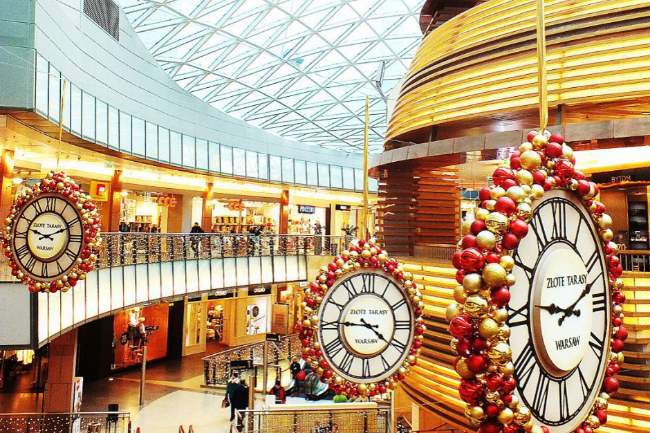 Złote Tarasy w świątecznej oprawie