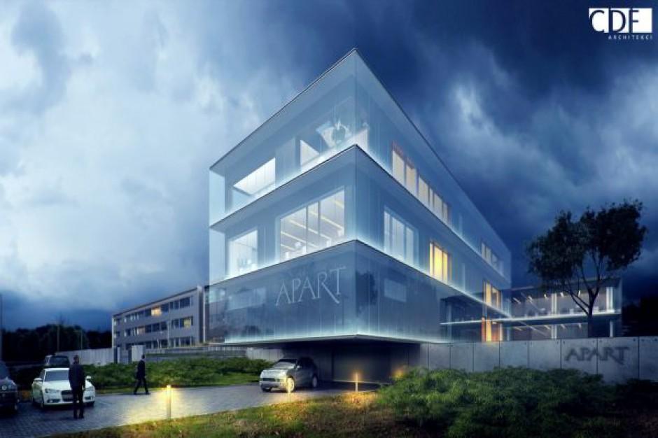 Szykuje się rozbudowa siedziby firmy Apart