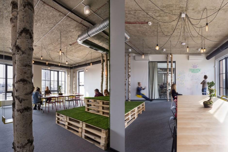Najlepsze przestrzenie biurowego relaksu