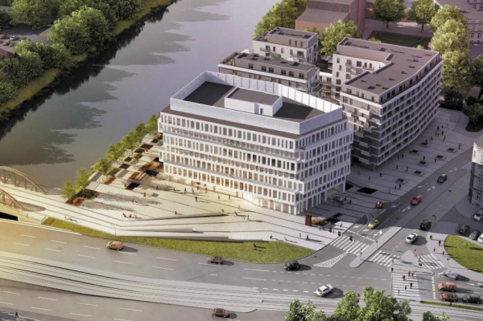 Zapełnia się wrocławski biurowiec z widokiem na Odrę