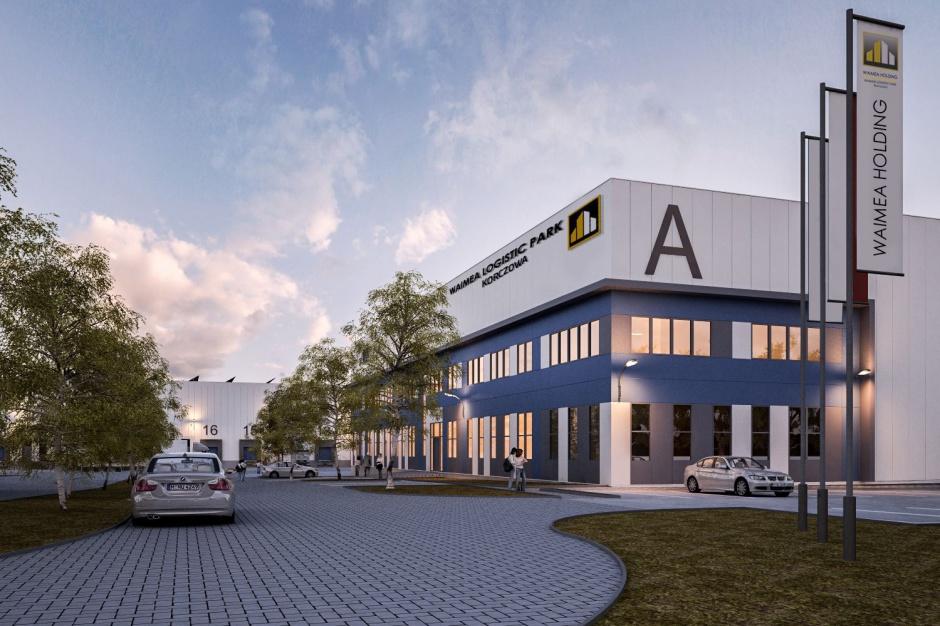 Pierwsza hala Waimea Logistic Park Korczowa nabiera kształtów