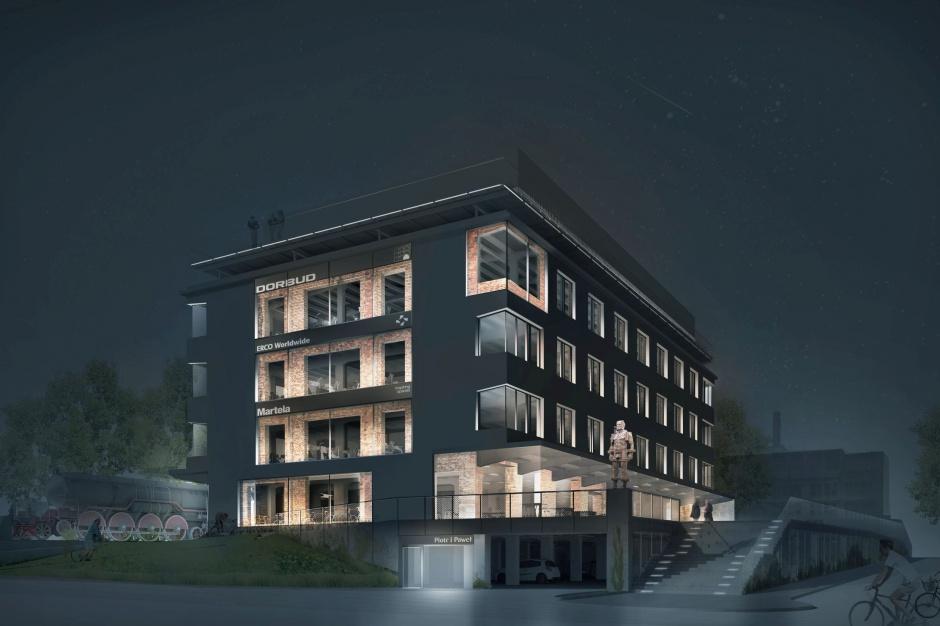 W Kielcach powstaje postindustrialny biurowiec