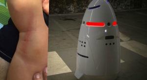Wypadek w centrum handlowym: robot