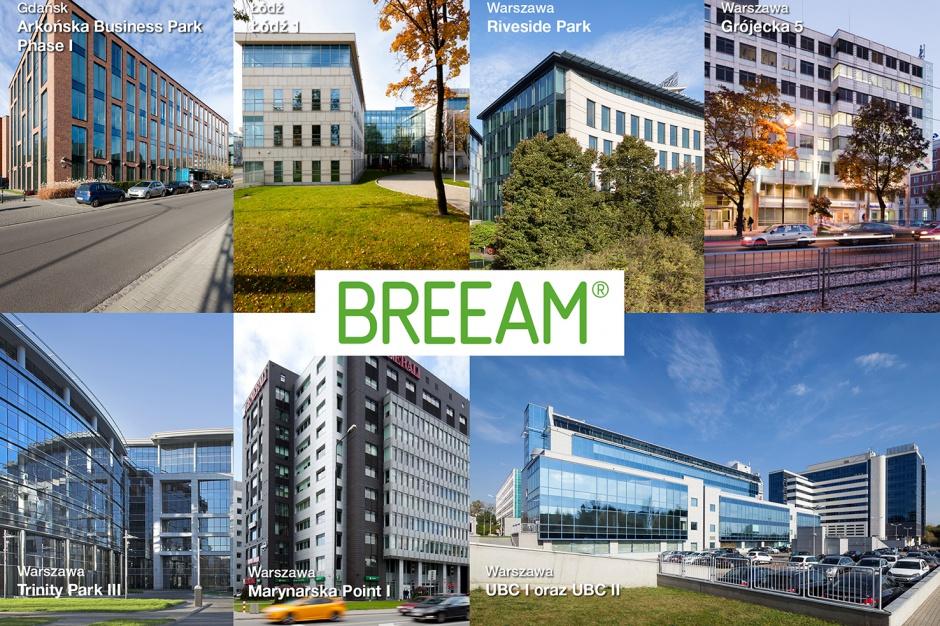 """""""Zielone złoto"""" dla ośmiu budynków Savills Investment Management"""