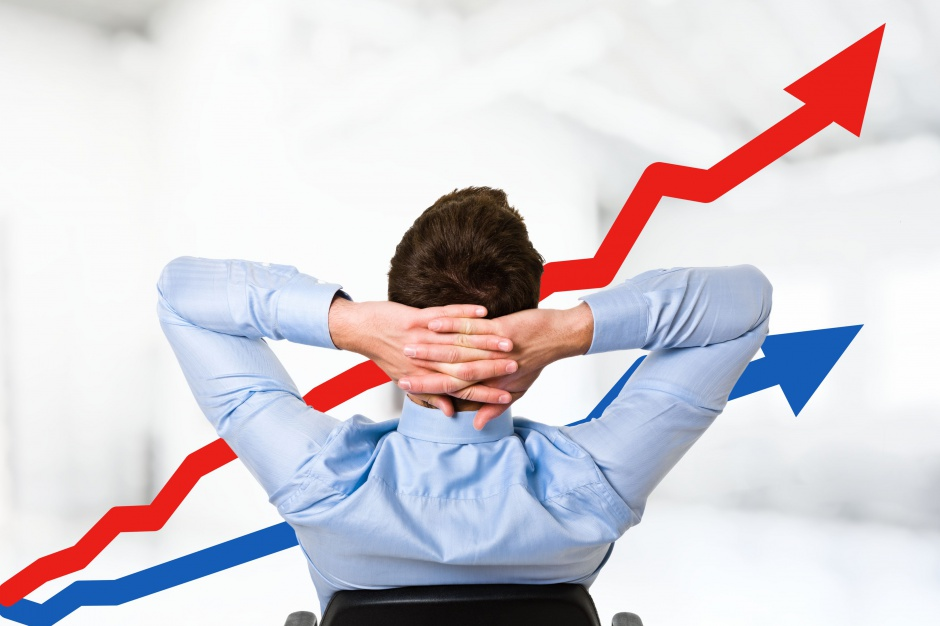 Obroty w handlu na fali wzrostowej