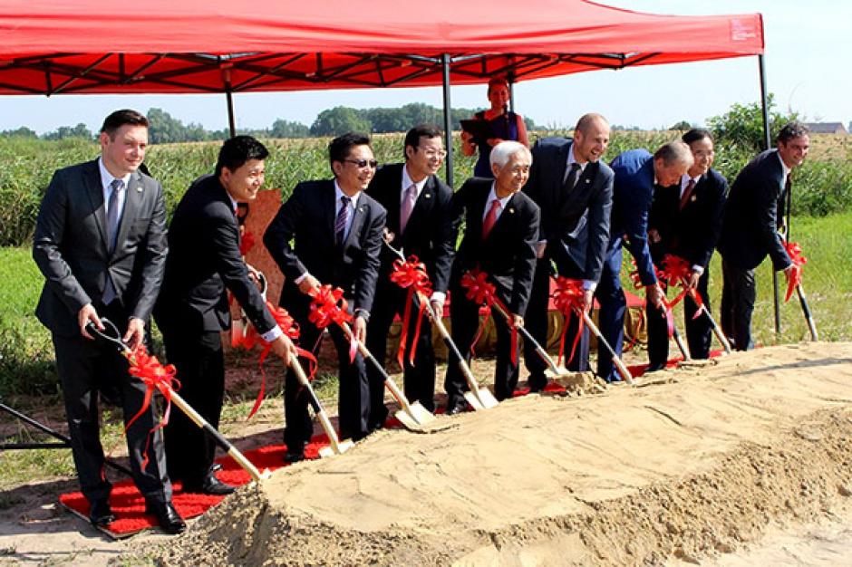 Tajwańczycy budują fabrykę w Gnieźnie