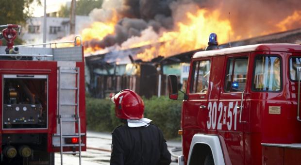 Pożar zakładu na Podkarpaciu