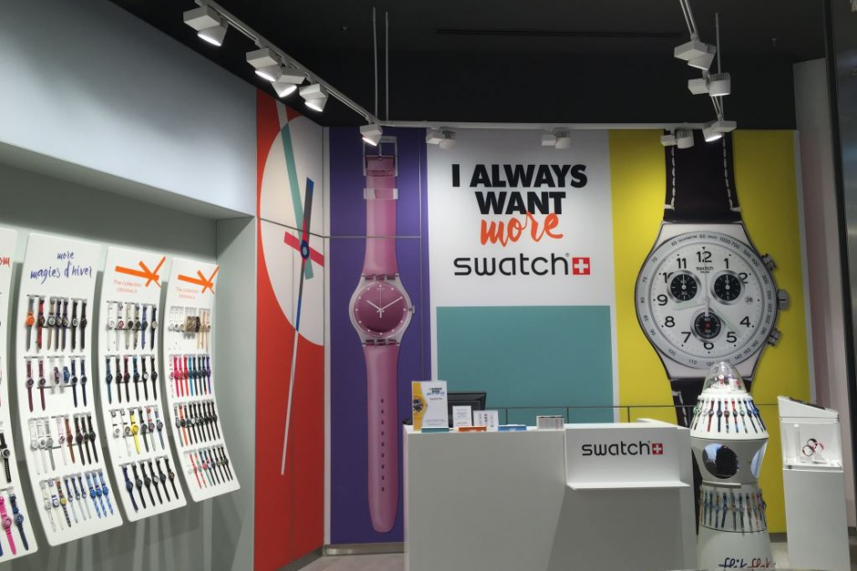 Swatch powiększa sieć sklepów