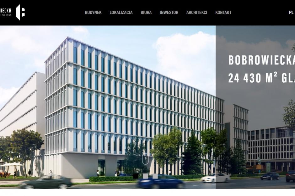 Biurowiec Bobrowiecka 8 w internecie