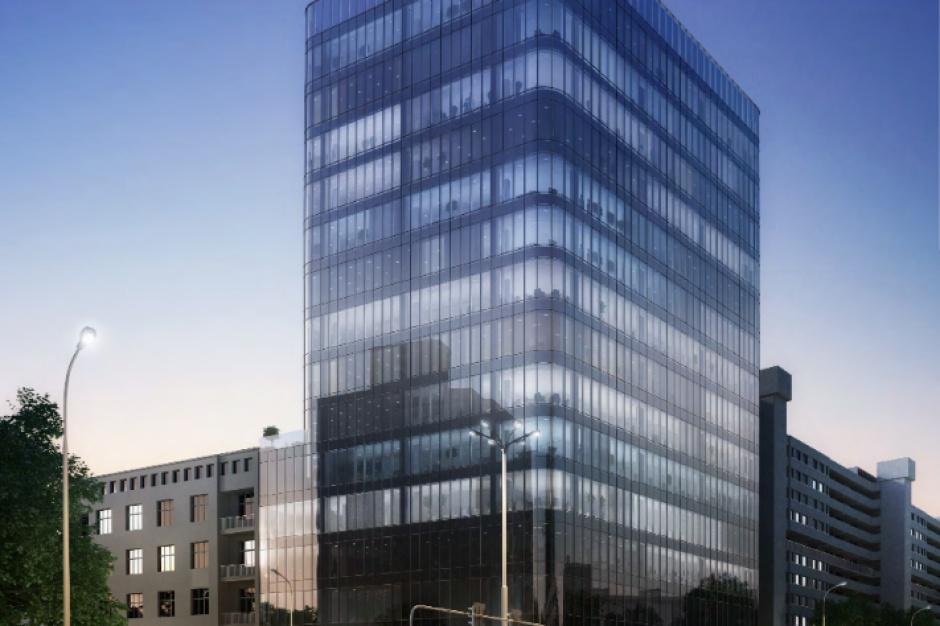 Szklana wieża w budowie. Nowa inwestycja we Wrocławiu