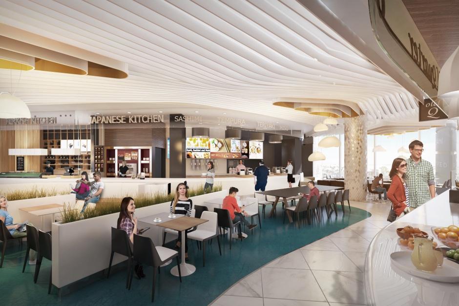 Cztery żywioły w nowoczesnej odsłonie. Tak będzie wyglądać food court Galerii Wisła