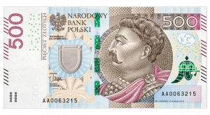 Banknot 500 zł już w obiegu