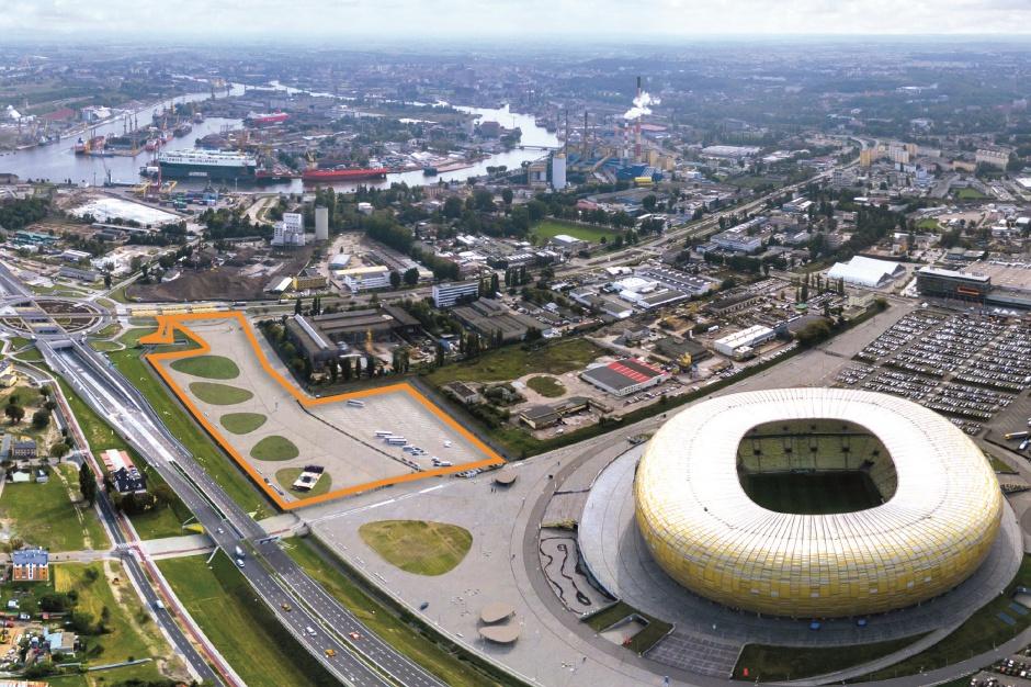 Teren inwestycyjny przy Stadionie Energa Gdańsk