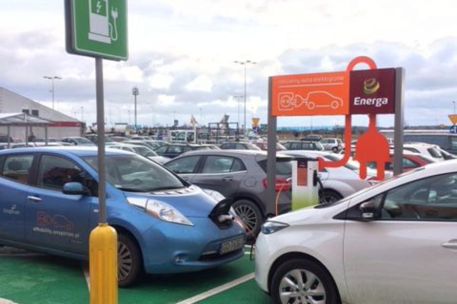 Centrum handlowe na Pomorzu z terminalem do ładowania samochodów elektrycznych