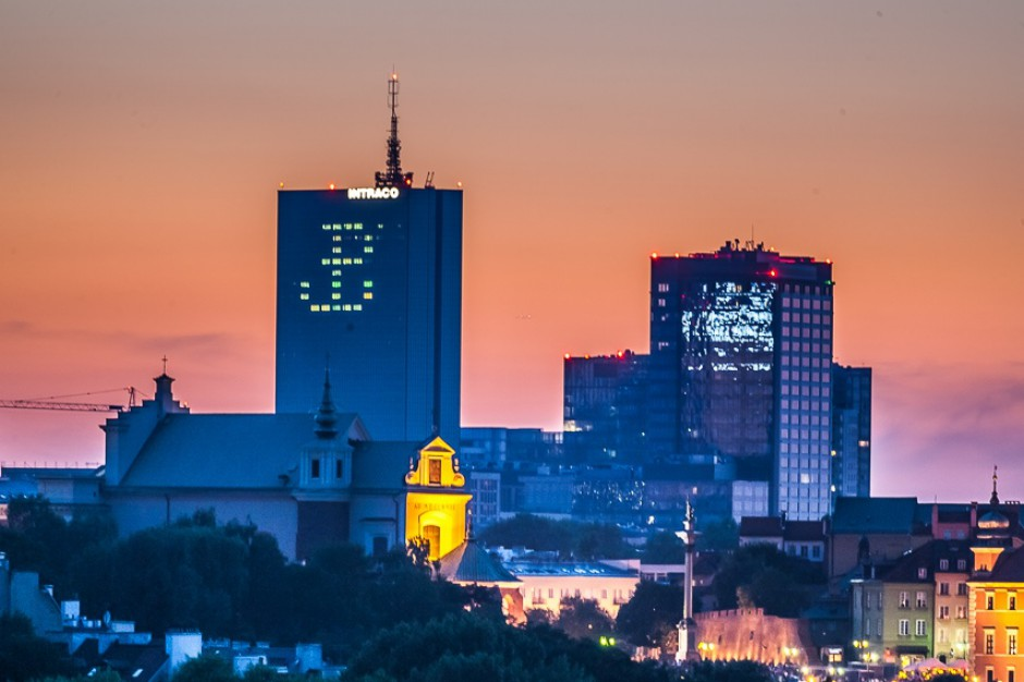 Kotwica na wieżowcu. Tak uczczą rocznicę wybuchu Powstania Warszawskiego