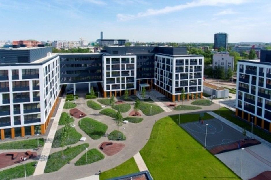 Wrocławski Business Garden z zielonym ogrodem