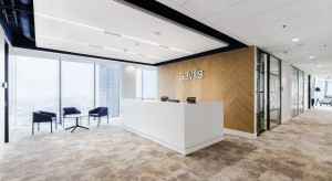 Prawie jak w Londynie. Zobacz nowe biuro Savills na 30. piętrze Q22