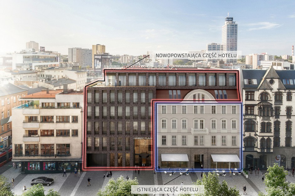 Hotel Diament Plaza Katowice już w budowie