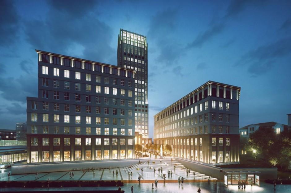 Najwyższy dźwig w Krakowie stanął na budowie Unity Centre