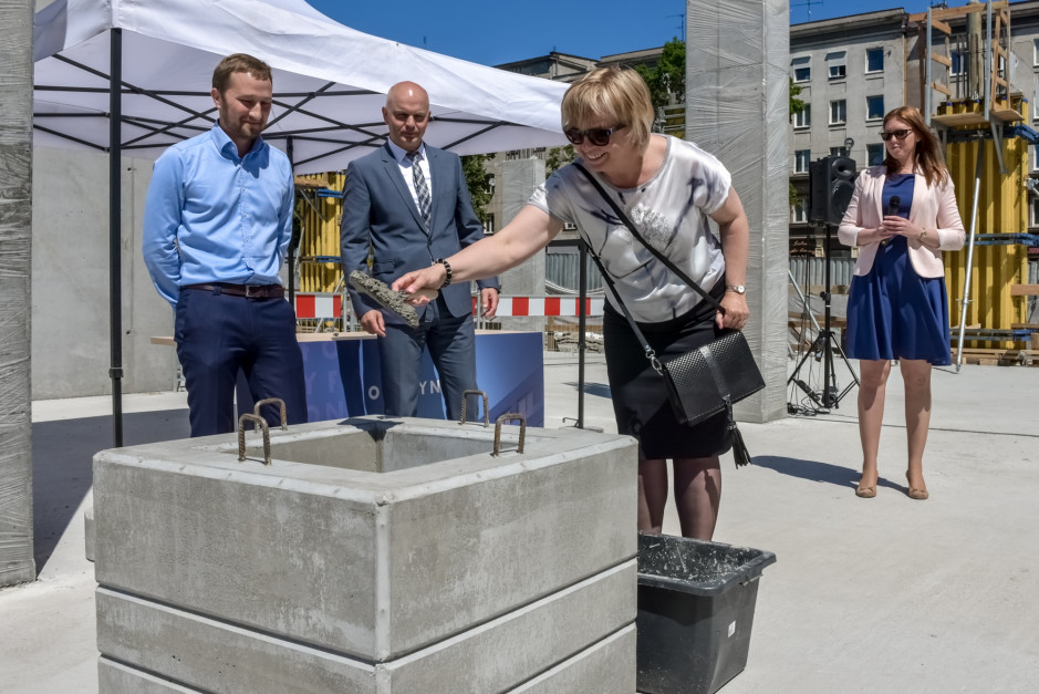 Wmurowanie kamienia węgielnego pod budowę I etapu biurowca Officyna, fot. mat. inwestora