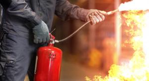 Duży pożar we wrocławskiej hali