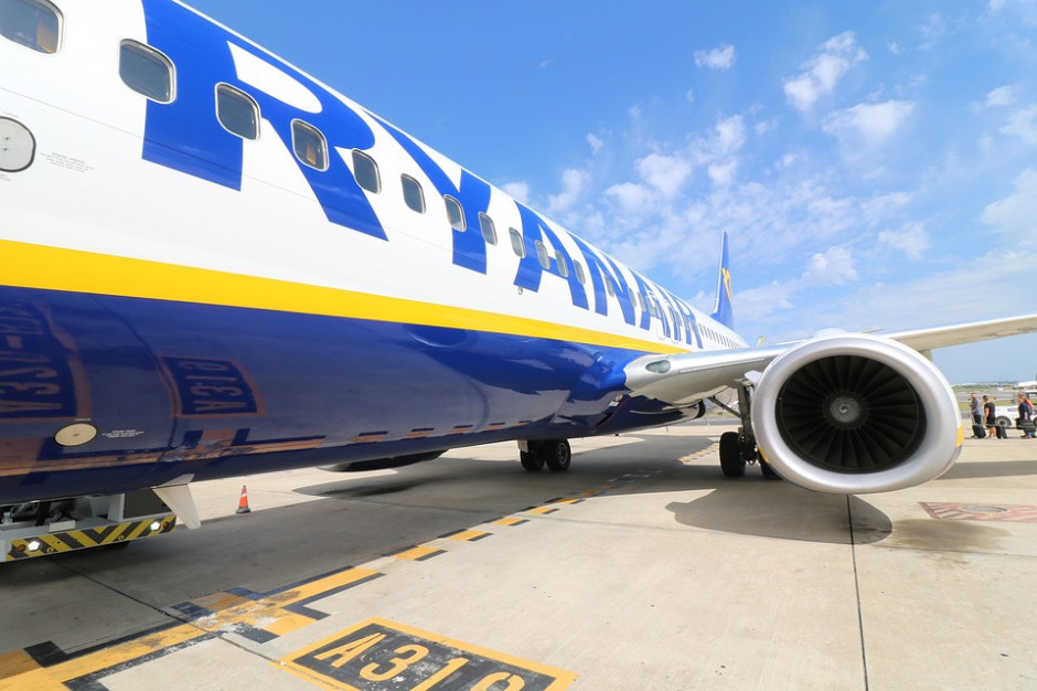 Ryanair mocno obniżył spodziewaną roczną liczbę pasażerów