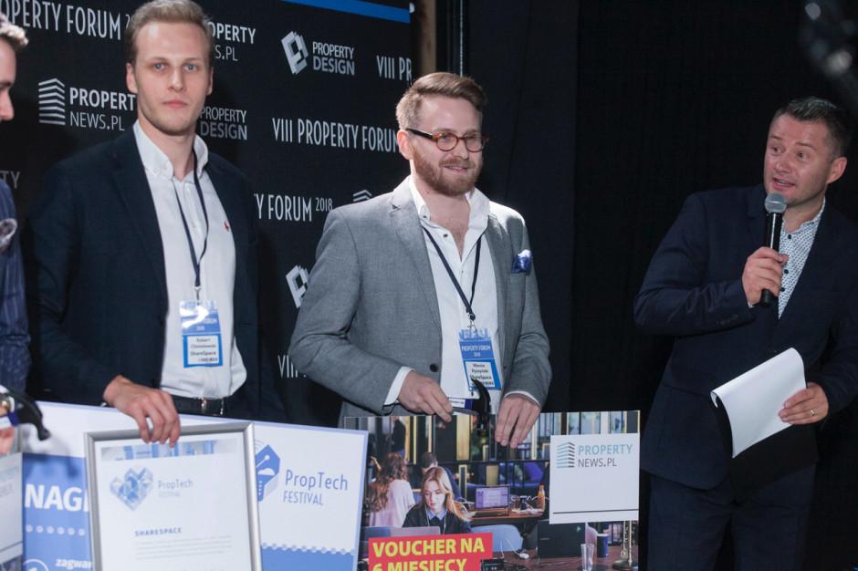 Założyciele ShareSpace podczas PropTech Festival 2018, fot. PTWP
