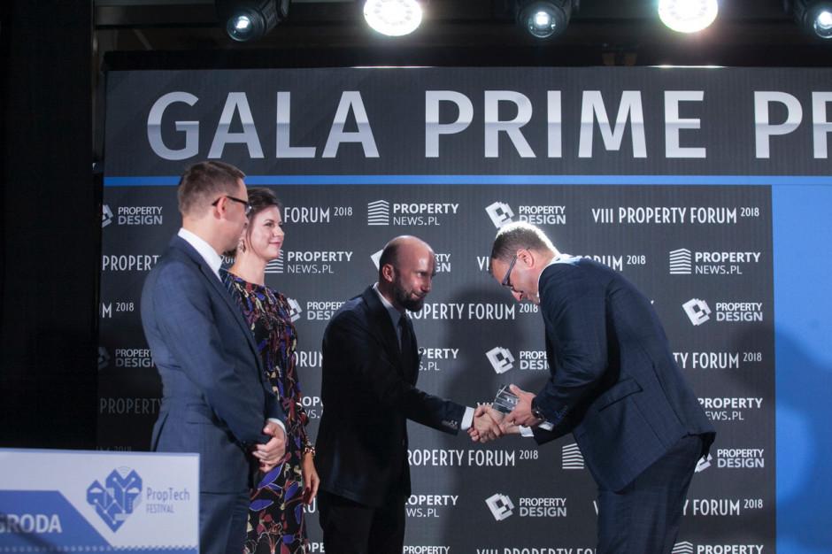 Robert Dobrzycki, prezes Panattoni Europe podczas wręczenia nagrody.