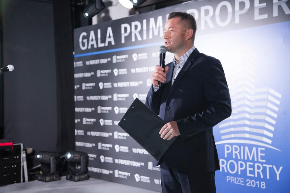 Jarosław Kuźniar, prowadzący Galę Prime Property Prize
