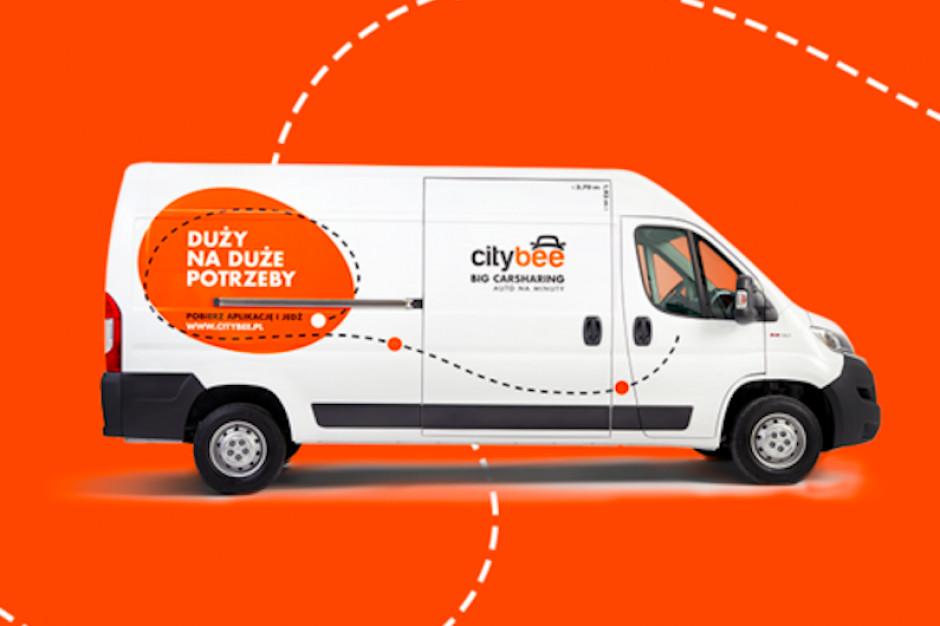CityBee udostępni auta dostawcze do wynajmu na minuty
