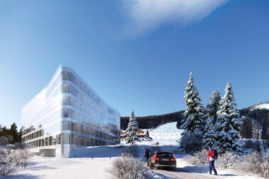Biała Perła: inwestycja w widokiem na góry
