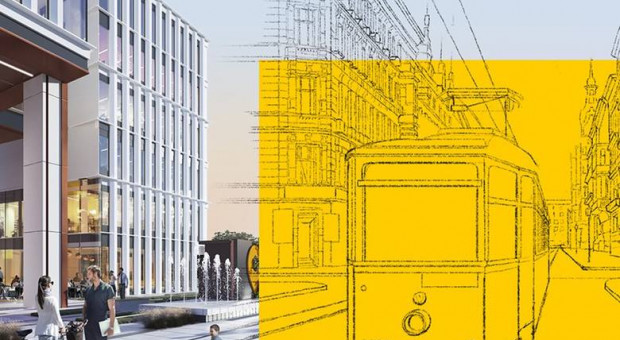 Tory tramwajowe w biurowcu. Skanska wplata zabytek w nowoczesną inwestycję