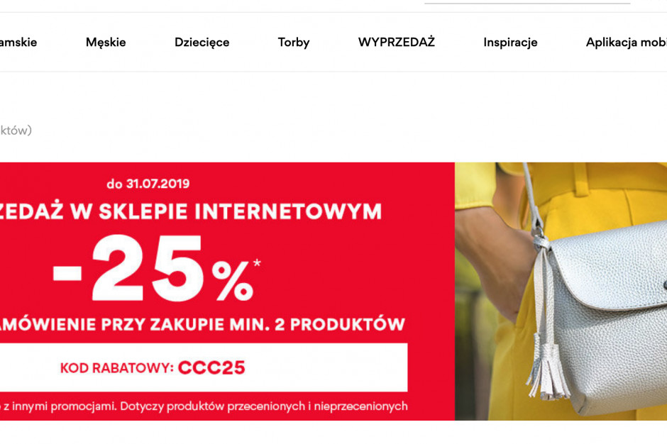 5 tys. zamówień za ponad milion złotych. CCC zadowolone z wyników nowego sklepu internetowego