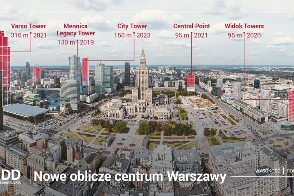 """Jak rośnie Warszawa? Wkrótce będzie """"najwyższym"""" miastem w Europie"""