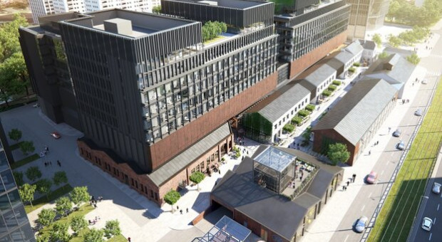 Budowa Fabryki Norblina na półmetku